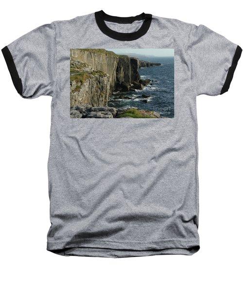 Rock Climbing Burren Baseball T-Shirt