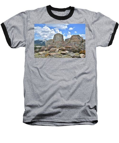Rock Cropping At Big Horn Pass Baseball T-Shirt