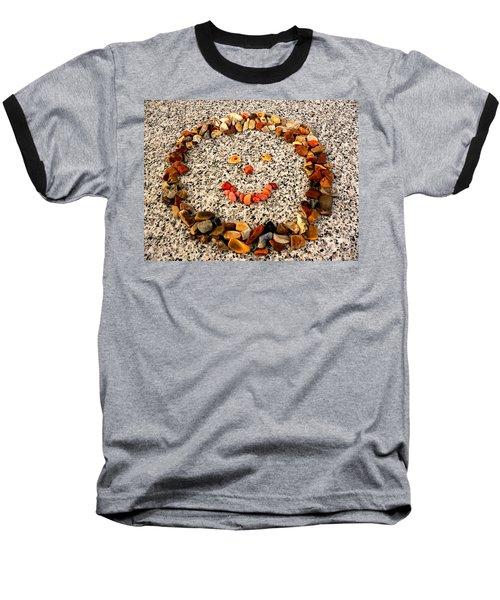 Rock Face On Granite Baseball T-Shirt