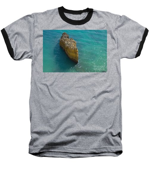 Rock Formation And The Sea In Algarve Baseball T-Shirt by Angelo DeVal