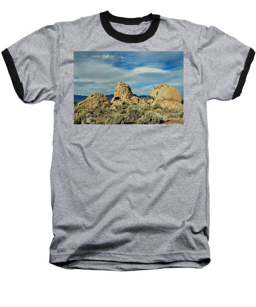 Baseball T-Shirt featuring the photograph Rock Formations At Pyramid Lake by Benanne Stiens