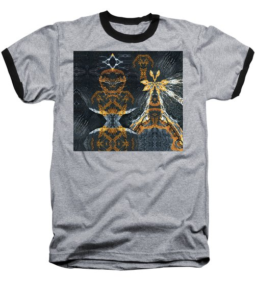 Baseball T-Shirt featuring the digital art Rock Gods Lichen Lady And Lords by Nancy Griswold