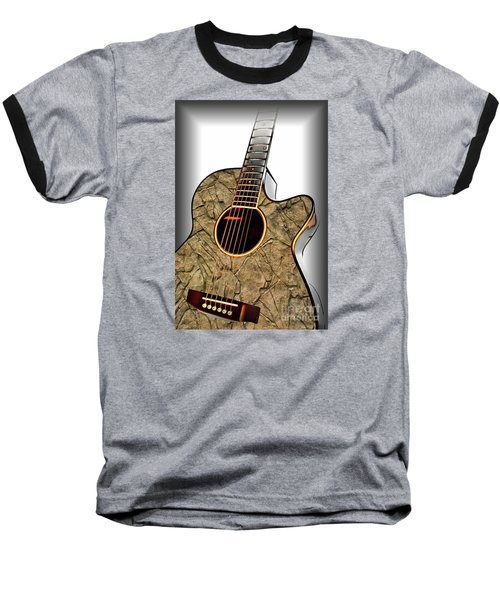 Rock Guitar 1 Baseball T-Shirt by Walt Foegelle