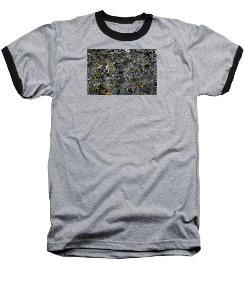 Rock Lichen Surface Baseball T-Shirt by Nareeta Martin