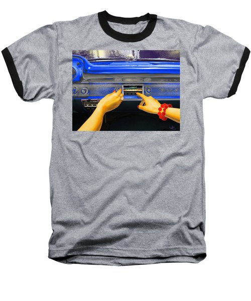 Rock N Roll Radio Baseball T-Shirt