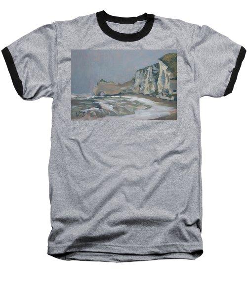 Rock Of Amont Etretat After The Rain Baseball T-Shirt