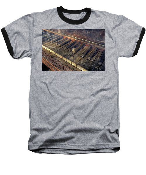 Rock Piano Fantasy Baseball T-Shirt by Mal Bray