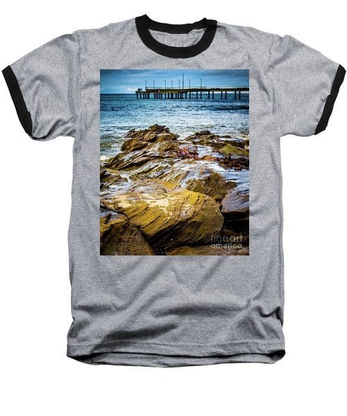 Baseball T-Shirt featuring the photograph Rock Pier by Perry Webster