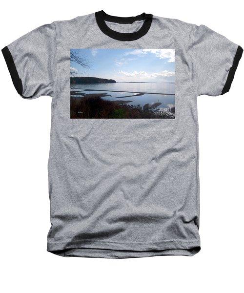 Rock Point North View Horizontal Baseball T-Shirt by Felipe Adan Lerma