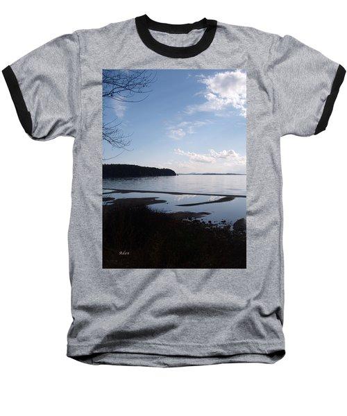 Rock Point North View Vertical Baseball T-Shirt by Felipe Adan Lerma
