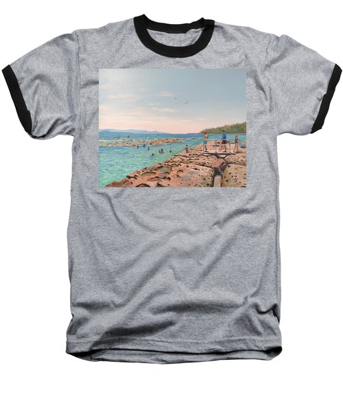 Rock Pool At Currarong Baseball T-Shirt
