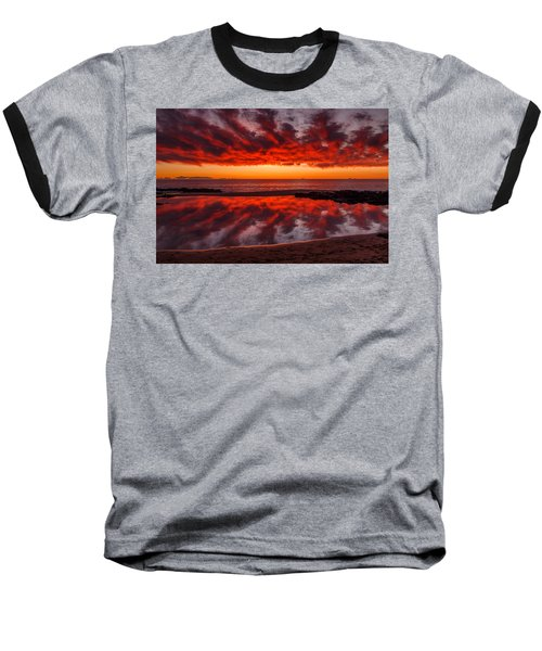 Rock Pool Reflections Baseball T-Shirt