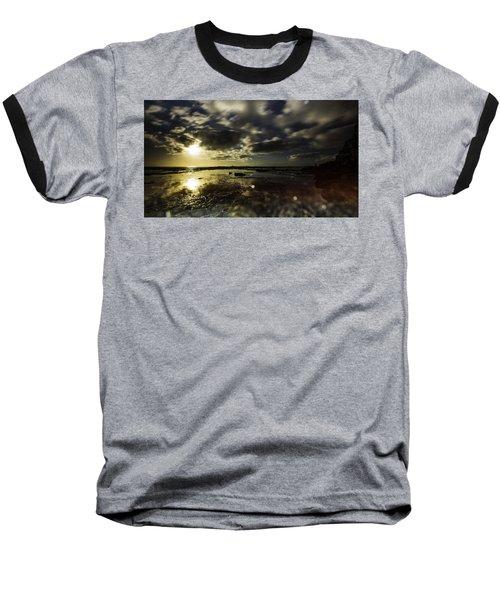 Rock Pool Sunrise Baseball T-Shirt