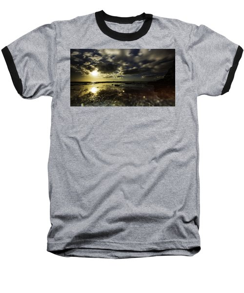 Rock Pool Sunrise Baseball T-Shirt