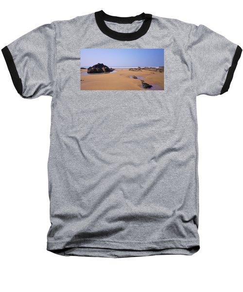 Rock Pools Baseball T-Shirt by Richard Brookes