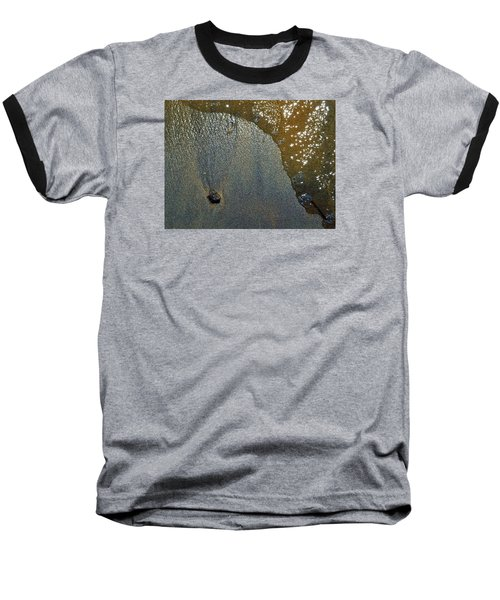Baseball T-Shirt featuring the photograph Rock Sand Water Sun 2  by Lyle Crump