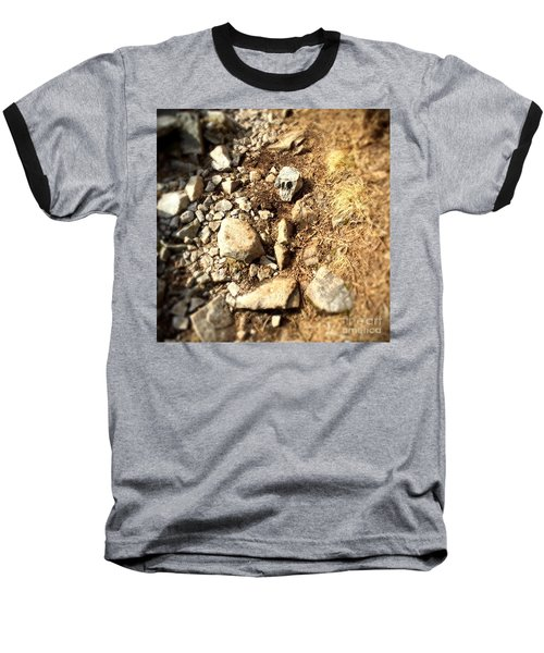 Rock Skull Baseball T-Shirt