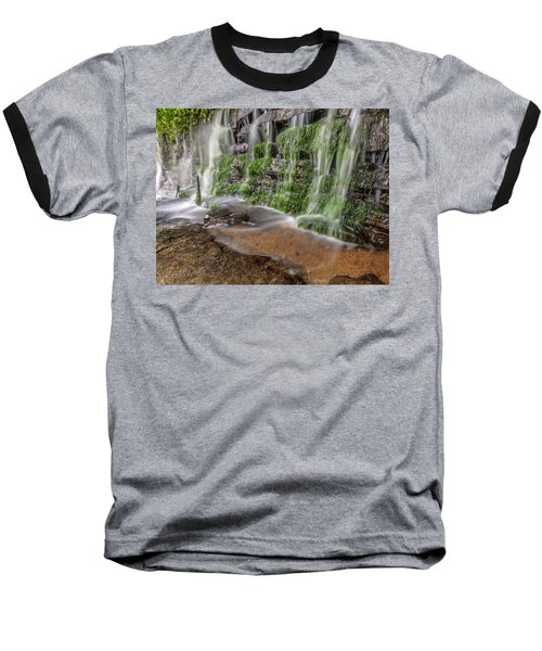 Rock Wall Waterfall Baseball T-Shirt