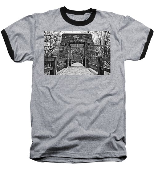 Rock Wood Steel Baseball T-Shirt