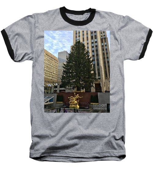 Rockefeller Center Christmas Tree Baseball T-Shirt