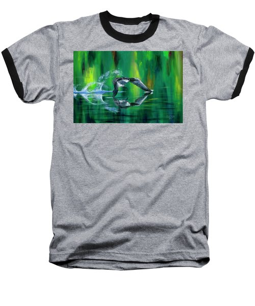 Rocket Feathers Baseball T-Shirt