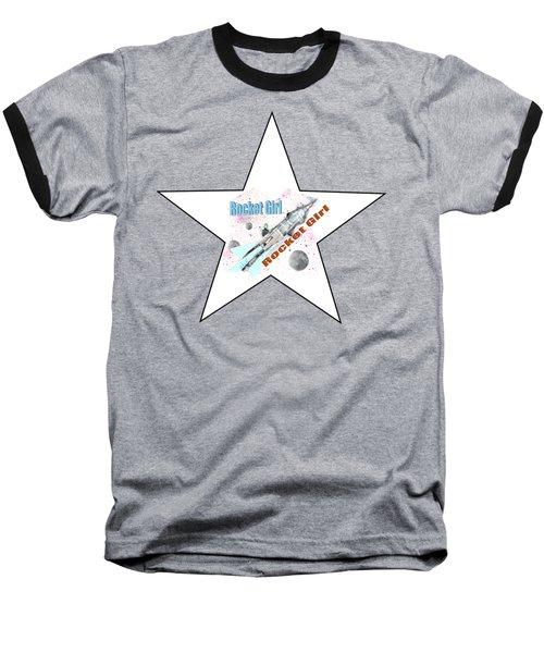 Rocket Girl With Star Baseball T-Shirt
