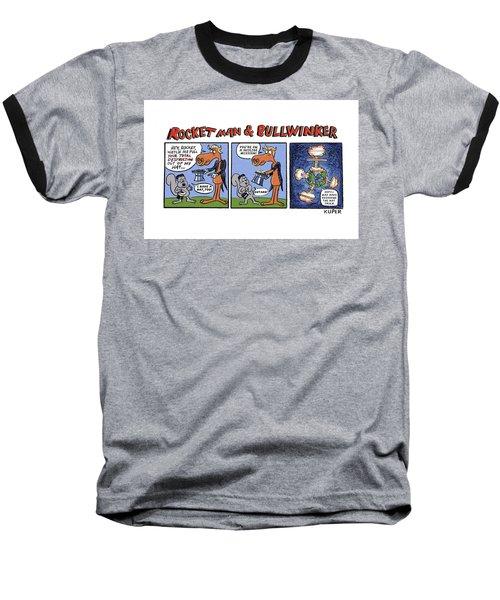 Rocket Man And Bullwinker Baseball T-Shirt