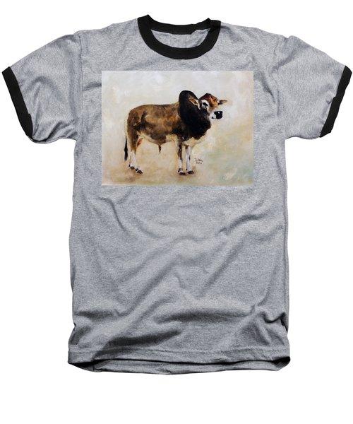 Rocket The Master Champion Herd Sire Miniature Zebu Baseball T-Shirt