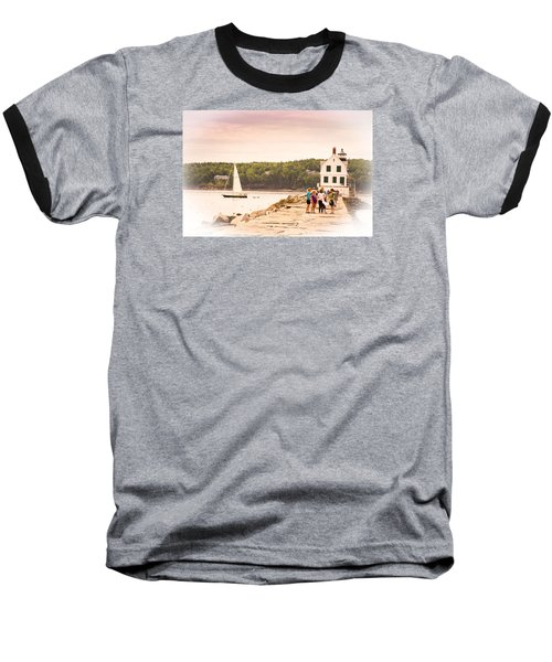 Rockland Breakwater Baseball T-Shirt by Paul Miller