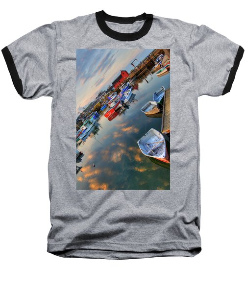 Baseball T-Shirt featuring the photograph Rockport Harbor Motif #1  by Joann Vitali