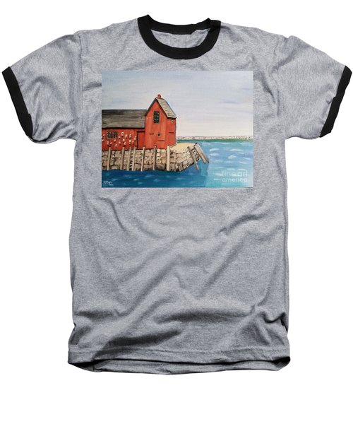 Rockport Motif In Winter Baseball T-Shirt