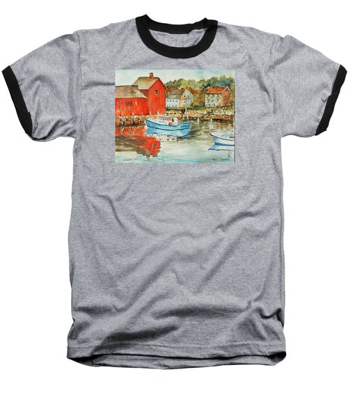 Baseball T-Shirt featuring the painting Rockport by P Maure Bausch