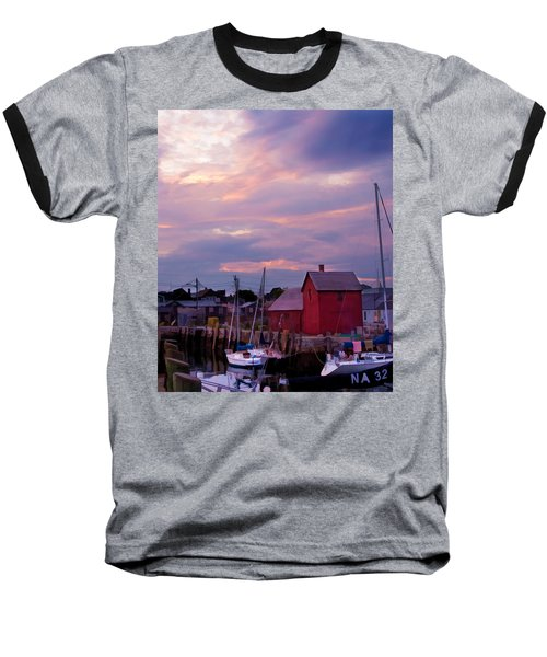 Baseball T-Shirt featuring the photograph Rockport Sunset Over Motif #1 by Jeff Folger