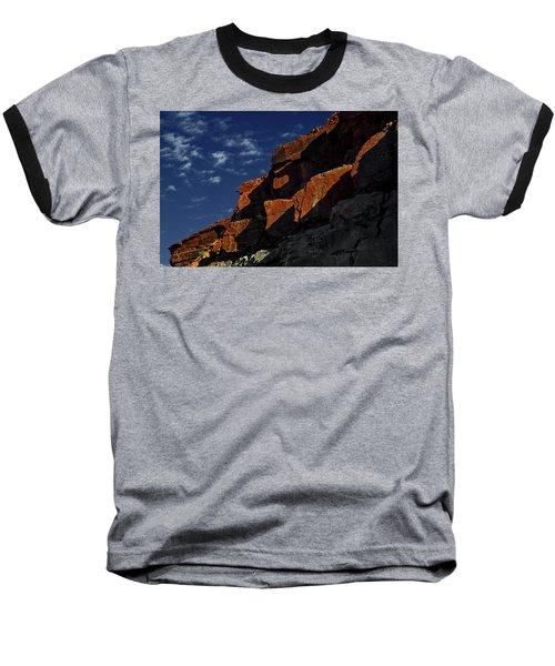 Sky And Rocks Baseball T-Shirt by Alex Galkin