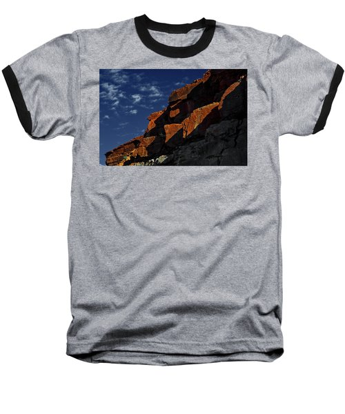 Sky And Rocks Baseball T-Shirt