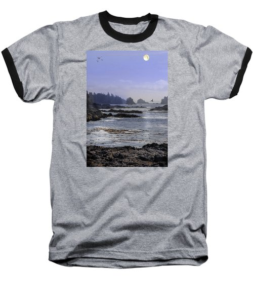 Rocks And Moon And Water Baseball T-Shirt