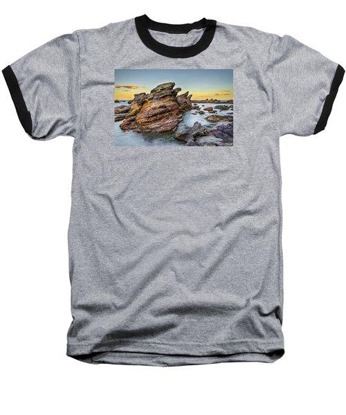 Rocks And Sea Baseball T-Shirt
