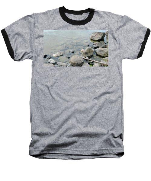 Rocks And Water Baseball T-Shirt