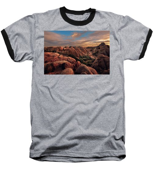Rocks At Sunrise Baseball T-Shirt