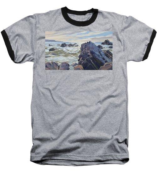 Rocks At Widemouth Bay, Cornwall Baseball T-Shirt