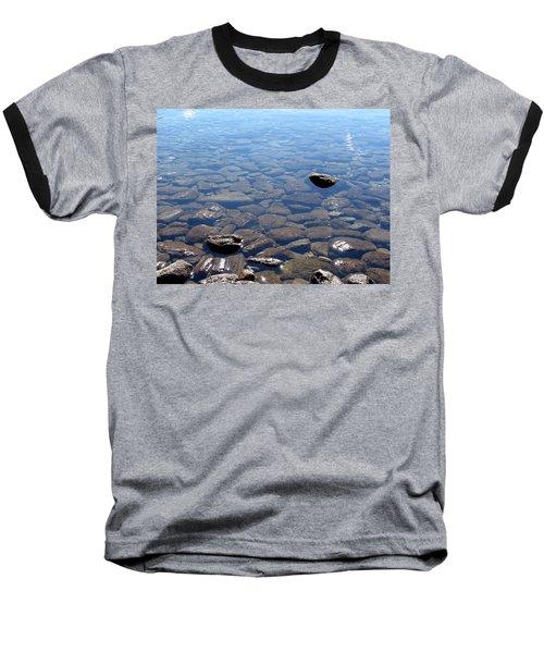 Rocks In Calm Waters Baseball T-Shirt