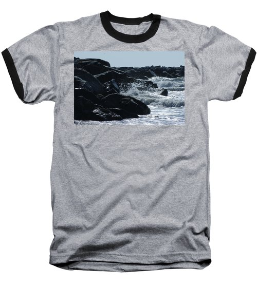 Rocks On The Jetti At Cocoa Beach Baseball T-Shirt