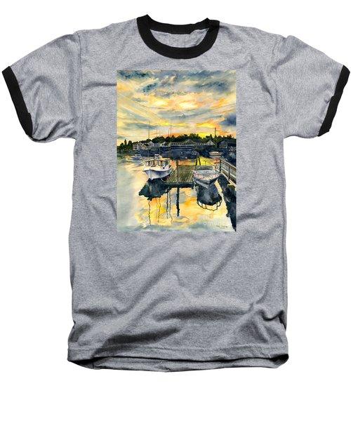 Rocktide Sunset Baseball T-Shirt by Melly Terpening