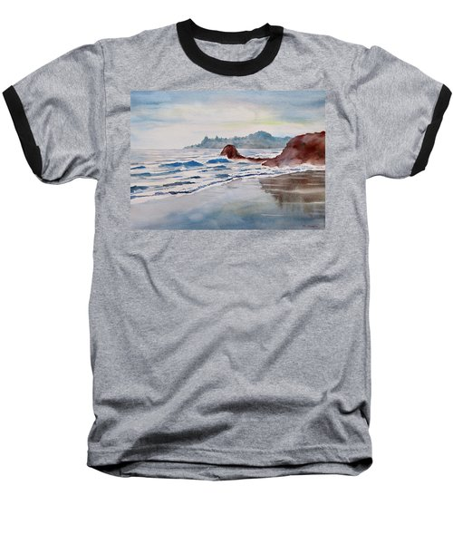 Rocky Beach Baseball T-Shirt by Geni Gorani
