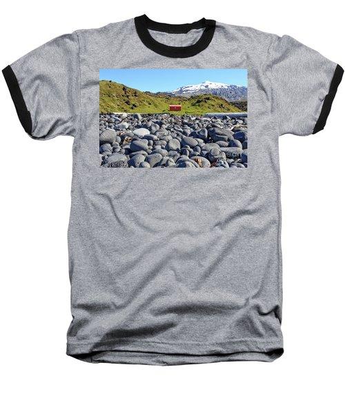 Baseball T-Shirt featuring the photograph Rocky Beach Iceland by Edward Fielding