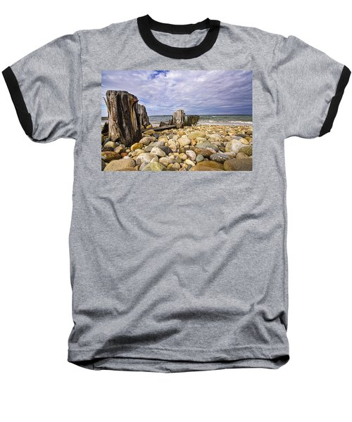 Rocky Beach In Springs Ny Baseball T-Shirt