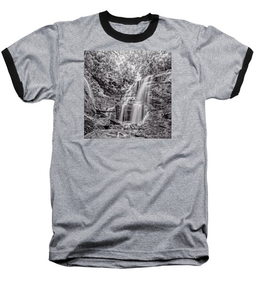Baseball T-Shirt featuring the photograph Rocky Falls - Bw by Christopher Holmes