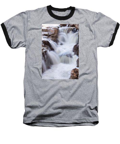 Rocky Gorge Falls Baseball T-Shirt by Michael Hubley