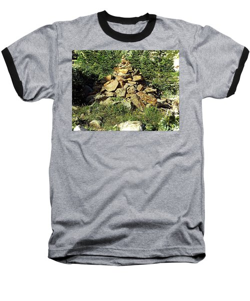 Rocky Mountain Cairn Baseball T-Shirt by Joseph Hendrix