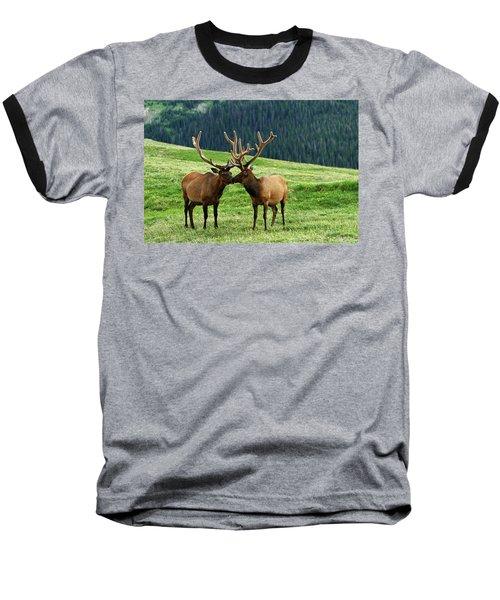 Rocky Mountain Elk 2 Baseball T-Shirt